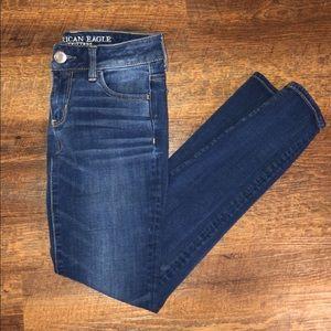 American Eagle Dark Wash Super Stretch Jeans